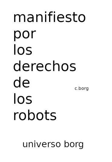 Manifiesto por los derechos de los robots